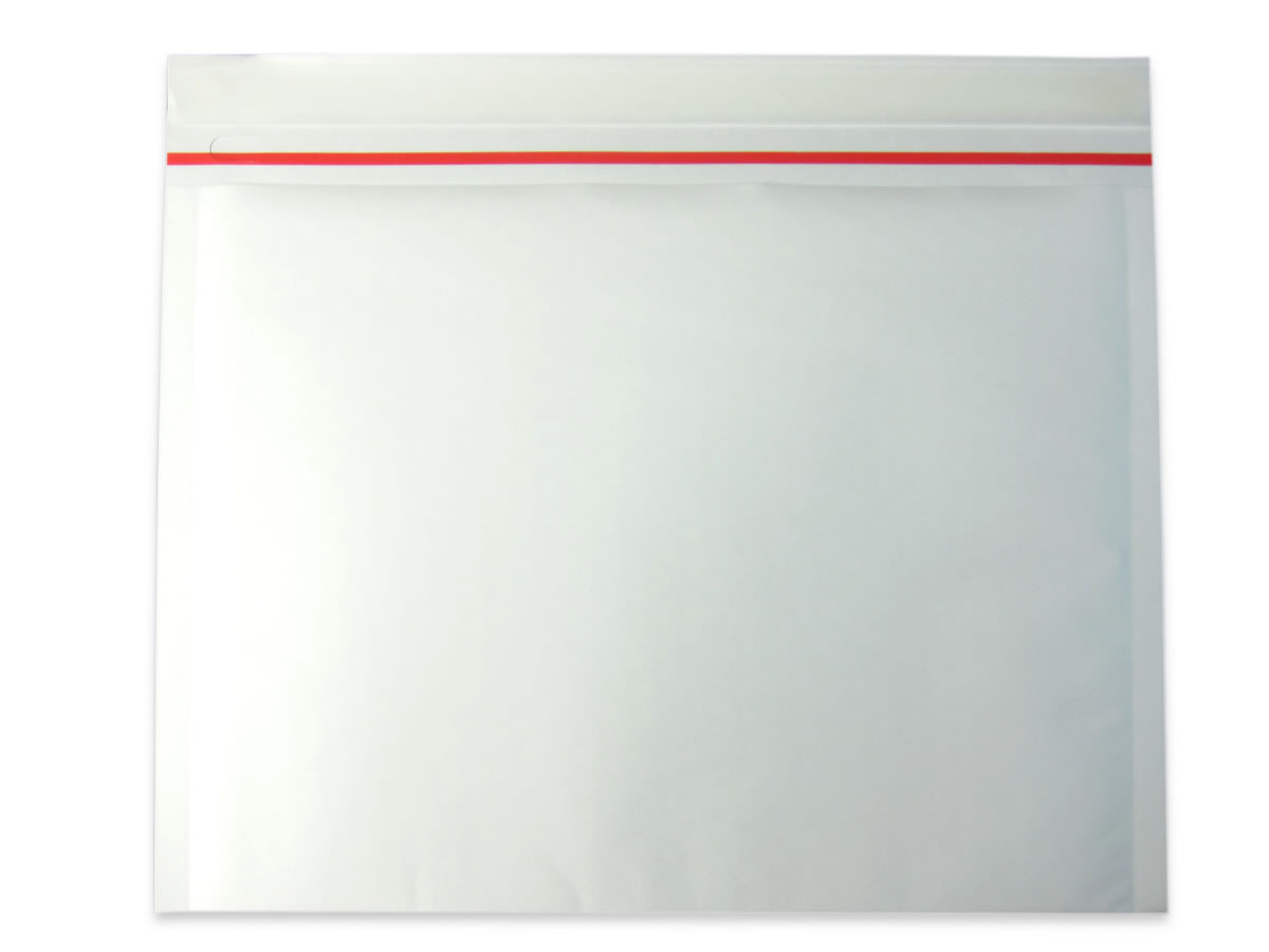 薄いクッション封筒 白色