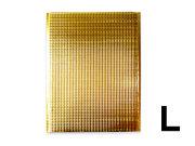 保冷袋 持ち手穴無し 内テープ無し 金色 ゴールド Lサイズ
